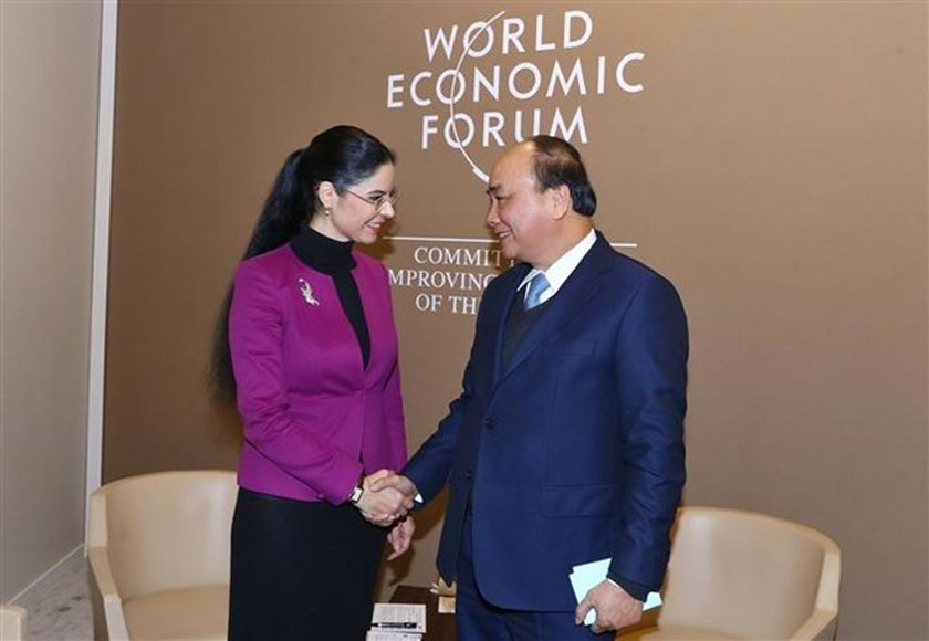 Prime Minister meets with foreign leaders in Davos ảnh 2