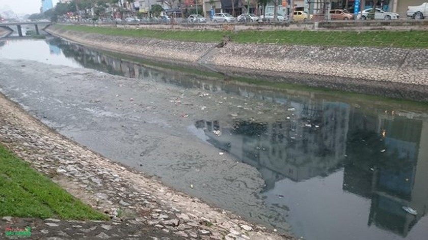 Japan sponsors water cleaning device in To Lich River ảnh 1