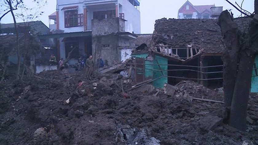 Nine causalities reported after big explosion in Bac Ninh province ảnh 1