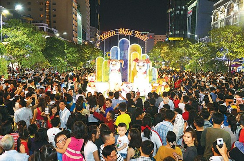 Nguyen Hue flower street opens in downtown HCMC ảnh 2
