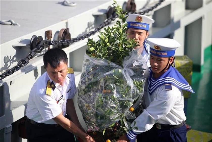 Tet gifts reach hands of soldiers on duty at sea ảnh 2
