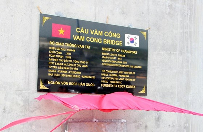Vam Cong bridge open to traffic in Mekong Delta ảnh 3