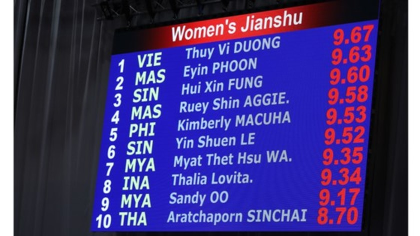 Duong Thuy Vi bags first gold medal at SEA Games 29 ảnh 3