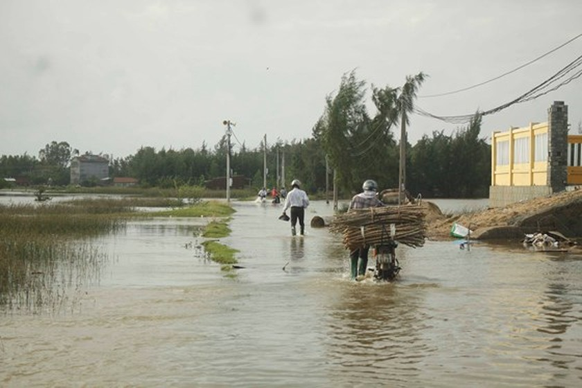 Floodwater levels in Quang Ngai's rivers slowly decreasing: Center ảnh 1