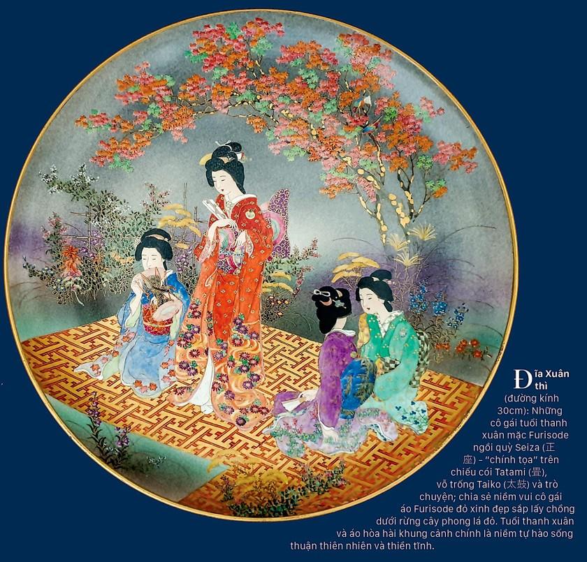 Tao nhã trang phục Kimono trên gốm cổ ảnh 1
