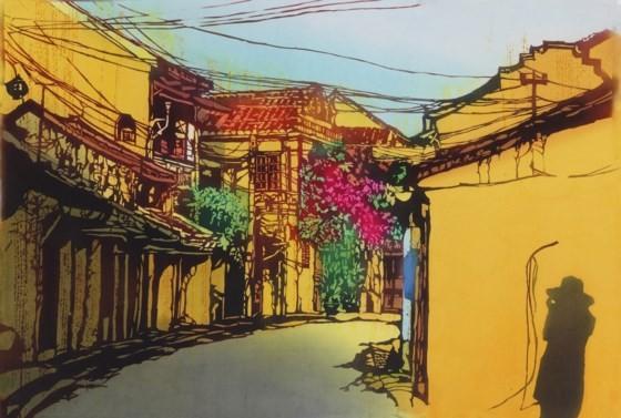 Việt Nam đầy cảm xúc qua tranh nhuộm truyền thống Nhật Bản ảnh 2