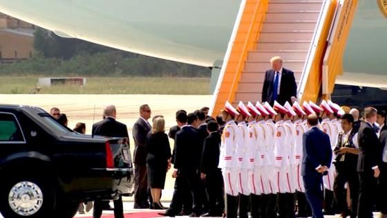 VIDEO: Tổng thống Donald Trump đến Đà Nẵng ảnh 4