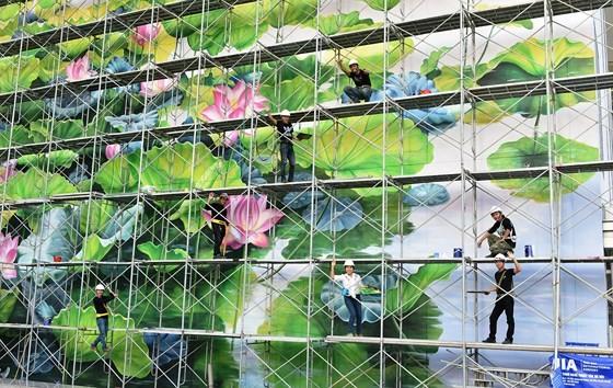 Khánh thành 2 bức tranh hoa sen tại sân bay quốc tế Nội Bài ảnh 3