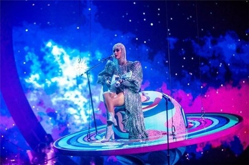 American pop singer Katy Perry in a design by Nguyen Cong Tri