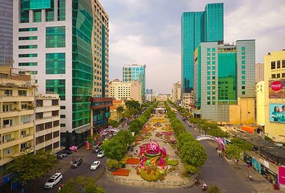 Đường hoa Nguyễn Huệ năm 2019 nhìn từ trên cao ảnh 3