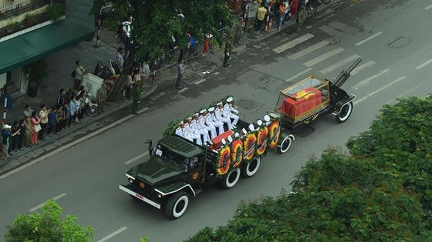 Funeral procession of former State President Le Duc Anh begins ảnh 6