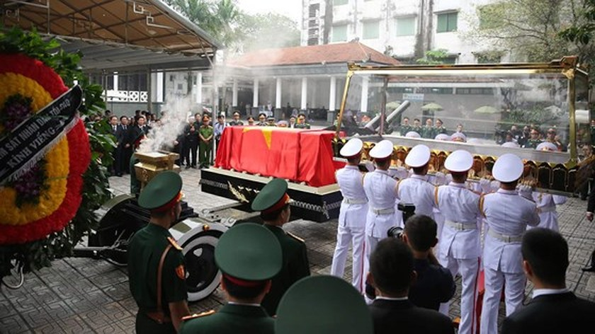 Funeral procession of former State President Le Duc Anh begins ảnh 2