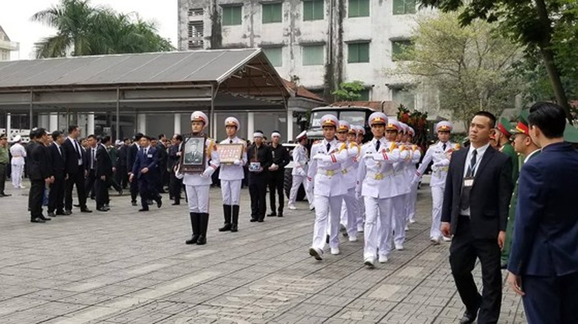 Funeral procession of former State President Le Duc Anh begins ảnh 3