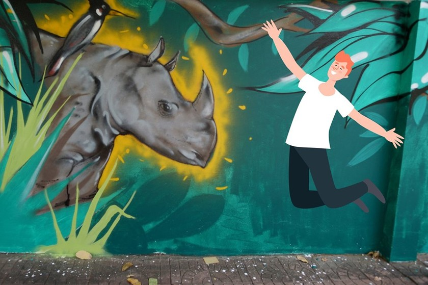 Wildlife Street Art Bus Tour program ends in HCMC ảnh 3