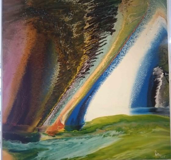 """Triển lãm """"Linh hồn màu sắc"""" qua tranh vẽ bằng ngón tay ảnh 3"""
