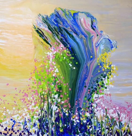 """Triển lãm """"Linh hồn màu sắc"""" qua tranh vẽ bằng ngón tay ảnh 2"""