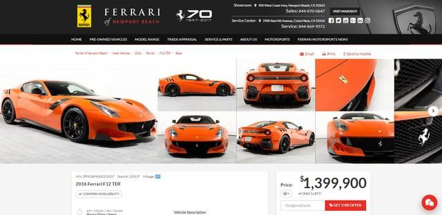 Vẻ đẹp của chiếc Ferrari F12tdf có giá bán siêu đắt đỏ trên thế giới, giá từ 31,8 tỷ Đồng - Ảnh 3.