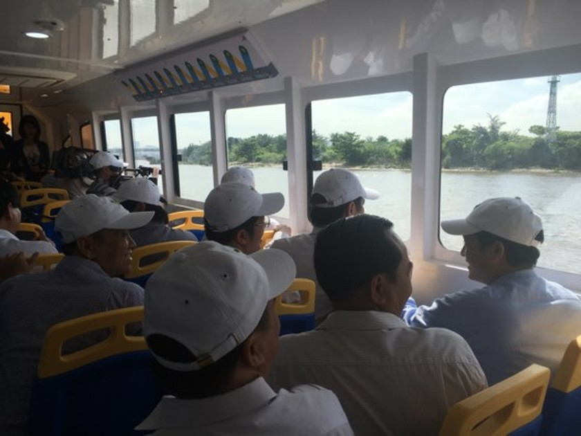 HCMC launches pilot operation of first river bus route ảnh 8